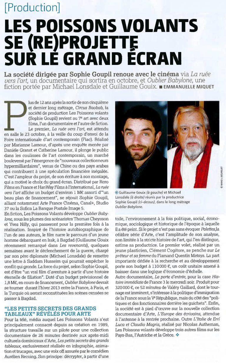 article Le Film Français- PV