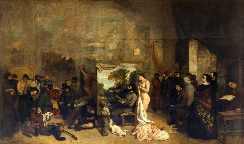 1865 - Gustave Courbet - L'atelier du peintre