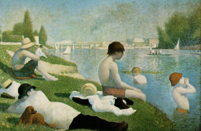 1884 - Georges Seurat - Une baignade à Asnières